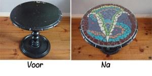 gepimpte tafel met mozaiek